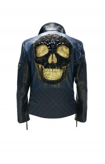 Black skull Bleu